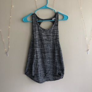 Grey twist tank- VS Pink